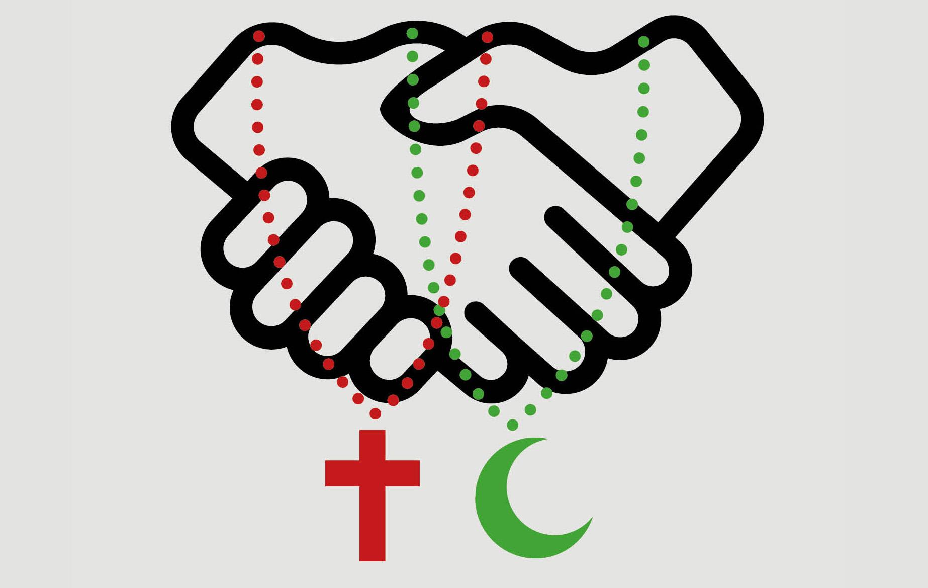 Ein Handschlag als Zeichen des Friedens